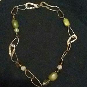 Silpada Jade Smoky Quartz Citrine 925 Necklace